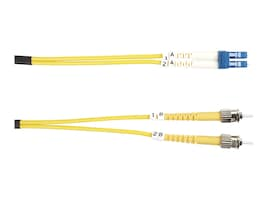 Black Box Patch Cable, ST-LC, Single Mode, Yellow, 2m, FOSM-002M-STLC, 13631821, Cables