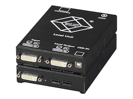 Black Box Server Switch Dual DVI Single-mode Fiber Optic, ACS4201A-R2-SM, 32869368, Network Transceivers