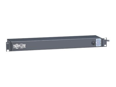 Tripp Lite PDU Rackmount 1U 15ft Cord 120V 15A (6) Outlets, RS-0615-R, 472927, Power Distribution Units
