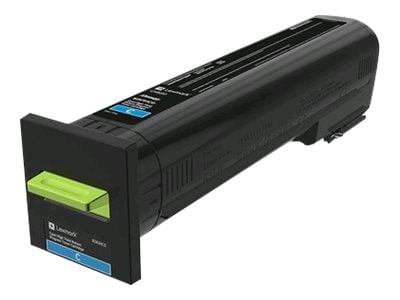 Lexmark Cyan High Yield Return Program Toner Cartridge for CX820, CX825 & CX860 Series, 82K1HC0, 31439534, Toner and Imaging Components - OEM