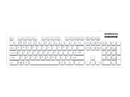 Man & Machine Lcool Keyboard Open Style Washable Value Lockable, White, LCOOL/W7, 32161634, Keyboards & Keypads