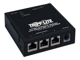 Tripp Lite 3-port IP Serial Console Terminal Server Built-in Modem, B095-003-1E-M, 11435413, Remote Access Servers