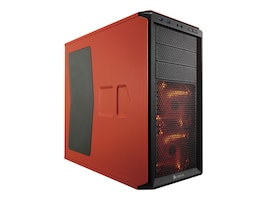 Corsair Chassis, Graphite Series 230T Compact Mid Tower Windowed ATX 4x3.5 Bays 7xSlots No PSU, Orange, CC-9011038-WW, 16639280, Cases - Systems/Servers