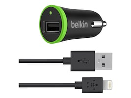 Belkin 12W Boost-Up Car Charger w  Charge Sync Cable, Black, F8J121BT04-BLK, 17741518, Automobile/Airline Power Adapters