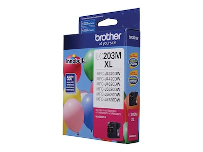 Brother Magenta LC203M High Yield Ink Cartridge, 012502638605, 17539521, Ink Cartridges & Ink Refill Kits - OEM