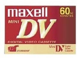 Maxell DVM-60, 4 Pack, 298022, 9810851, Audio Tape Media