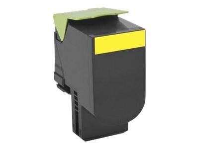 Lexmark 801HY Yellow High Yield Return Program Toner Cartridge, 80C1HY0, 14909522, Toner and Imaging Components