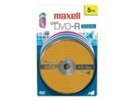 Maxell MAXE 638033 DVD-R CARD  COLOR 5P, 638033, 10239883, DVD Media