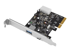 Siig USB 3.1 Type A C 2-Port PCIe Host Adapter, JU-P20A12-S1, 26548613, Host Bus Adapters (HBAs)