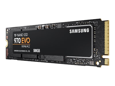 Samsung 500GB 970 EVO PCIe Gen 3.0 x4 NVMe 1.3 M.2 2280 Client Solid State Drive, MZ-V7E500E, 35543620, Solid State Drives - Internal