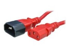 APC Power Cord C14 to C13 15A 250V 14 3 SJT Red 4ft, AC2-4RED, 18109768, Power Cords