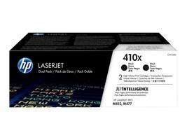 HP 410X (CF410XD) High Yield Black Original LaserJet Toner Cartridges (2-pack), CF410XD, 33683637, Toner and Imaging Components - OEM