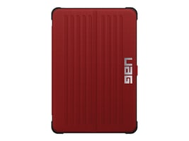 Urban Armor Folio Case for iPad mini 4 mini 4 Retina, Red Black, UAG-IPDM4-RED-VP, 29661064, Carrying Cases - Other