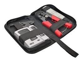 Tripp Lite 4-Piece Network Installer Tool Kit with Carrying Case, T016-004-K, 33946661, Network Tools & Toolkits