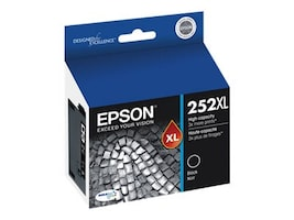 Epson Black 252XL High Capacity Ink Cartridge, T252XL120, 18868342, Ink Cartridges & Ink Refill Kits - OEM