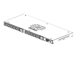 Raritan PDU 208V 1-phase 24A 1U L6-30P (2) C19 (10) C13 (No Returns), PX2-2288R-N1, 16516271, Power Distribution Units