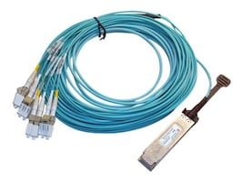 F5 Networking 40GbE QSFP+ to 4x LC Duplex Active Optical Cable, 1.5m, F5-UPG-QSFP+AOC1M50, 35103341, Cables