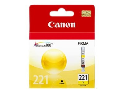 Canon Yellow CLI-221 Ink Tank, 2949B001, 8976251, Ink Cartridges & Ink Refill Kits