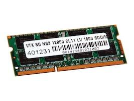 VisionTek 8GB PC3-12800 204-pin DDR3 SDRAM SODIMM, 900642, 22711188, Memory
