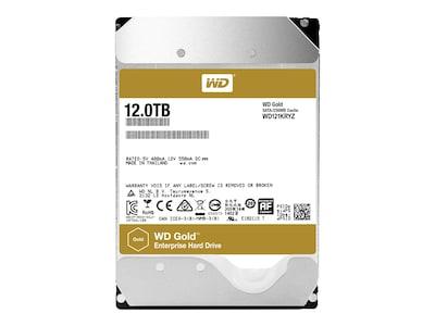 WD 12TB WD Gold SATA 6Gb s 3.5 Datacenter Hard Drive, WD121KRYZ, 34540013, Hard Drives - Internal