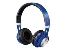 GPX BT Wireless Headphones w  AUX-In, Built-In Mic & Rechargeable Battery, IAHB56BU, 35674742, Headsets (w/ microphone)