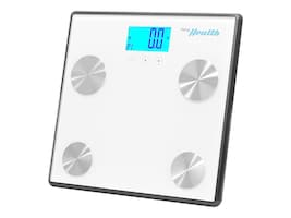 Pyle Bluetooth Digital Weight and Personal Health Scale w iPhone and Health App, White, PHLSCBT4WT, 33249355, Home Appliances