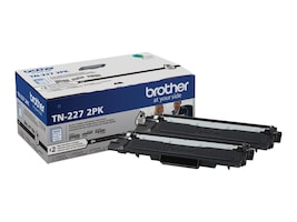 Brother Black TN227 High Yield Toner Cartridges (2-pack), TN-227-2PK, 37647650, Toner and Imaging Components - OEM