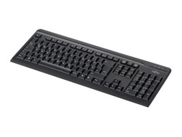 Fujitsu KB410 USB 104-Key Keyboard, US English, Black, S26381-K511-E410, 34233179, Keyboards & Keypads