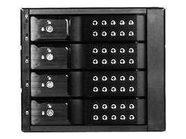 iStarUSA 3 x 5.25 to 4 x 3.5 SAS Cage - Black, BPN-DE340SS-BLK, 12421478, Hard Drive Enclosures - Multiple