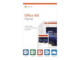 Microsoft Office 365 Home English 1-year Subscription Medialess CLDS Only P4, 6GQ-01028, 36224647, Software - Office Suites