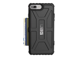 Urban Armor Trooper Series Wallet Case for iPhone 6 Plus 6s Plus 7 Plus 8 Plus, Black, IPH8/7PLS-T-BK, 34763831, Carrying Cases - Phones/PDAs