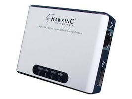 Hawking 1-Port USB 2.0 Print Server for Multifunction Printers, HMPS1U, 8219998, Network Print Servers