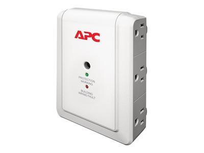 APC Essential SurgeArrest Wallmount Surge Protector 120V (6) 5-15R Outlets, P6W, 12096142, Surge Suppressors