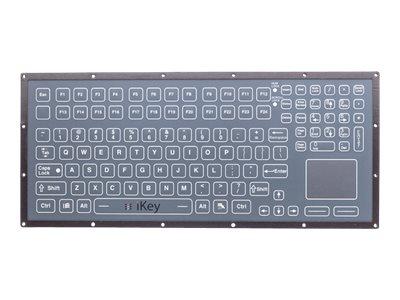 iKEY Rugged OEM Membrane Keyboard, Integrated Touchpad, USB (KYB-5K-MEM-TP-OEM-USB)