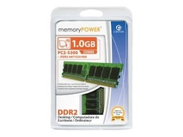 Centon Electronics 1GB PC2-5300 667MHz 240-pin CL5 DDR2 SDRAM DIMM, 1GB667DDR2, 7670867, Memory