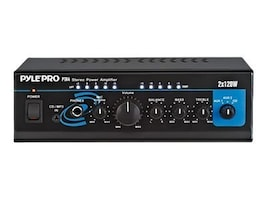 Pyle Mini 2x120 Watt Stereo Power Amplifier with AUX CD Input, PTA4, 11862044, Stereo Components