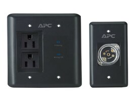 APC AV In-Wall Power Filter and Connection Kit, Black, INWALLKIT-BLK, 10076674, Surge Suppressors