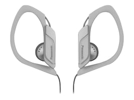 Panasonic HS34 Water Sweat Resistant Sports Clip Earbud - White, RP-HS34-W, 21085664, Headphones