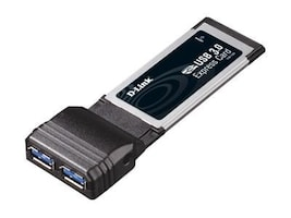 D-Link 2-port USB 3.0 ExpressCard, DUB-1320, 13111885, Controller Cards & I/O Boards