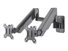 Manhattan Universal Gas Spring Dual Monitor Wall Mount for 17-32 Displays, 461627, 36652051, Stands & Mounts - Desktop Monitors
