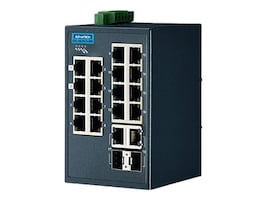 Quatech Advantech EKI-5626CI-MB DIN RM WM Managed Switch 16xFaE 2xGbE 2xGbE SFP, EKI-5626CI-MB-AE, 35165622, Network Switches