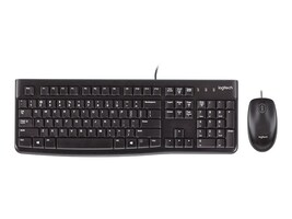 Logitech Desktop MK120 Slim Keyboard Mouse Combo, USB, Black, 920-002565, 11445110, Keyboard/Mouse Combinations
