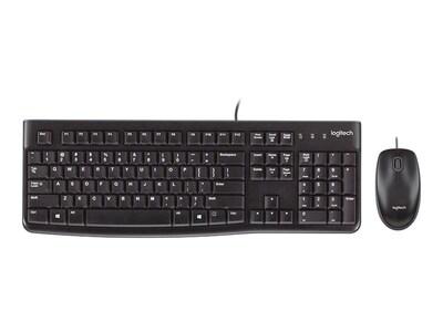 Logitech Desktop MK120 Slim Keyboard Mouse Combo, USB, Black, 920-002565, 11445110, Keyboard/Mouse Combinations