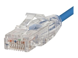 Monoprice SlimRun Cat6 UTP Bare Copper Ethernet Network Patch Cable, Blue, 1ft, 13518, 34832251, Cables