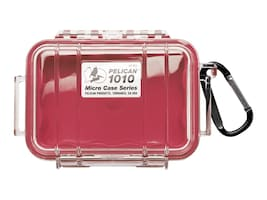 Pelican 1010 MICRO CASE RED W CLEAR LIDCASEW LINER 4.37X2.87X1.68, 1010-025-170, 36767967, Carrying Cases - Other