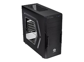 Thermaltake Chassis, Versa H22 Mid Tower 3x3.5 Bays 3x5.25 Bays 7xSlots Window No PSU, Black, CA-1B3-00M1WN-00, 16976438, Cases - Systems/Servers