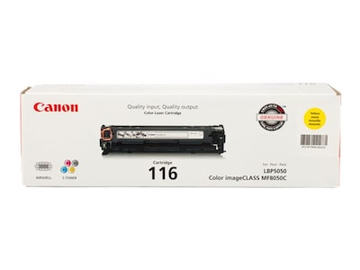 Canon Yellow 116 Toner Cartridge for imageClass MF8050Cn, 1977B001, 10195905, Toner and Imaging Components - OEM