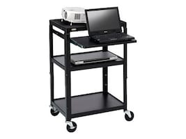 Bretford Manufacturing Adjustable Projector Cart, Black, A2642NS, 21016335, Computer Carts
