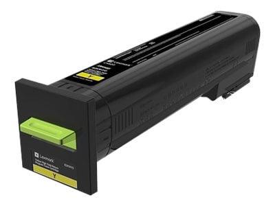 Lexmark Yellow High Yield Return Program Toner Cartridge for CX820, CX825 & CX860 Series, 82K1HY0, 31439577, Toner and Imaging Components - OEM