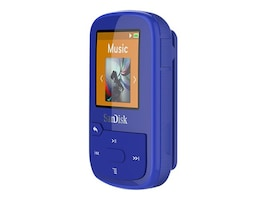 SanDisk 16GB Clip Sport PLUS, Blue, SDMX28-016G-A46B, 34282991, Digital Media Players